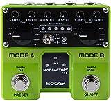 camola mooer mod factory pro doppio motore modulazione chitarra effetti a pedale contenente 16 effetti di modulazione tap tempo funzione con doppio pedale