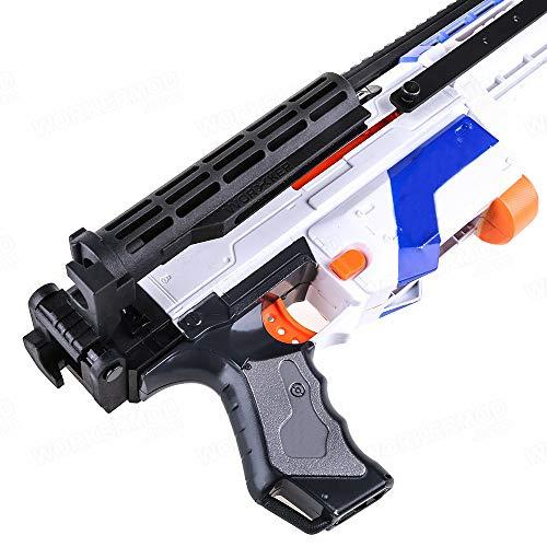 WORKER Shoulder Stock Core with Adaptor Parts for nerf N-Strike Elite Color Black