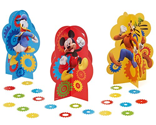 American Greetings Mickey Mouse Clubhouse Table Decorations, 3-Count