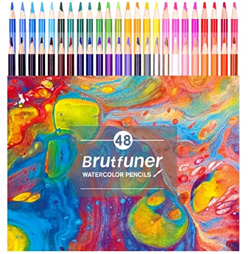 48 Oil Colored Pencils for Adults Coloring and Kids Vibrant Artist Pencils for Drawing Art Sketching Shading and Coloring
