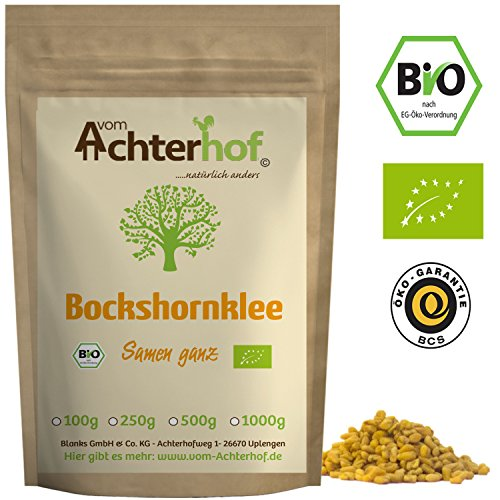 Bockshornklee Samen ganz BIO (250g) | Bockshorn-Tee | Bockshornkleesamen | Ideal als Tee oder...