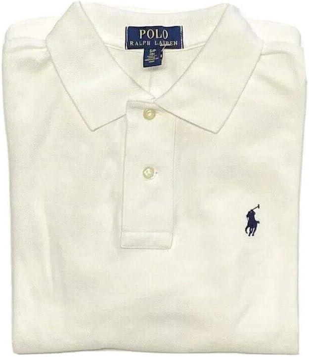 Polo Ralph Lauren Kids Boy's Basic Mesh Polo (Big Kids) White SM (8 Big Kids)