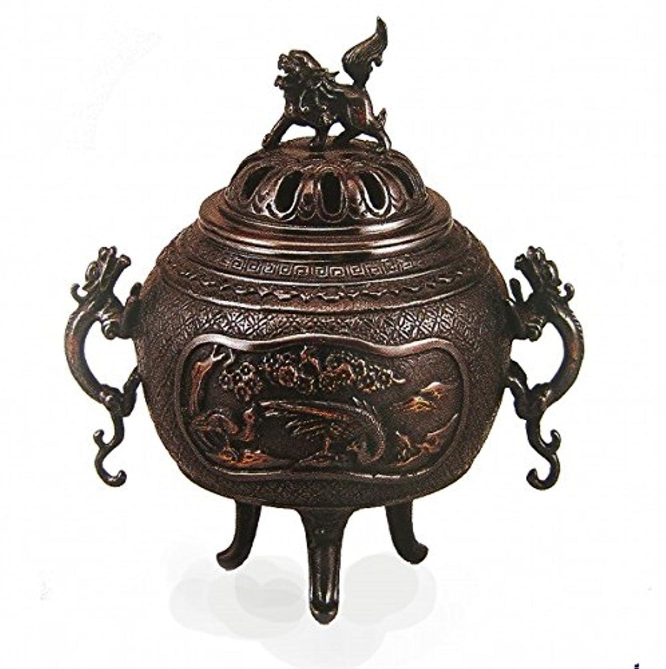 ペインティング糞『花鳥香炉』銅製