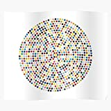 Amelius Color Colorful Rainbow Dots Damien Hirst Hirst