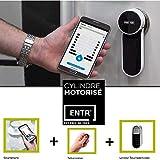 Cerradura motorizada ENTR + teclado de códigos, controla la puerta de entrada a través del smartphone FICHET