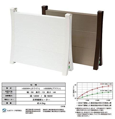 パネルヒーターアルミパネルヒーターicoroイコロ暖房機ヒーターI-500(茶)