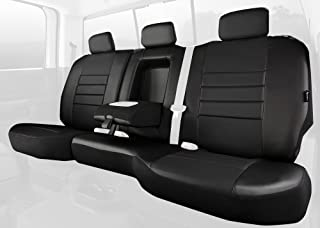 Solid Black Fia SL69-23 BLK//BLK Custom Fit Front Seat Cover Split Seat 40//20//40 Leatherette