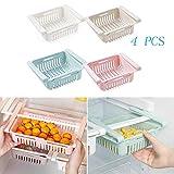 hillp 4 STÜCKE Kühlschrank Partition Layer Organizer Einstellbare Schublade Organizer Obst Gemüse...