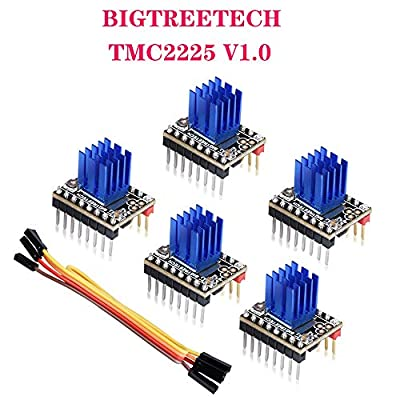 PoPprint TMC2225 V1.0 Stepper Motor Driver UART StepStick Mute Upgreat from TMC2208 VS TMC2208 2209 for 3D Printer SKR V1.3 MINI E3