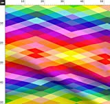 Regenbogen, Geometrisch, Diamant, Aztekisch Stoffe -