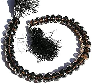 Jewel Beads Natural Beautiful jewellery Full 8 Inches Strand. 10-11mm Finest Quality Natural Smoky Quartz Micro Faceted Rondelle BeadsCode:- JBB-16002