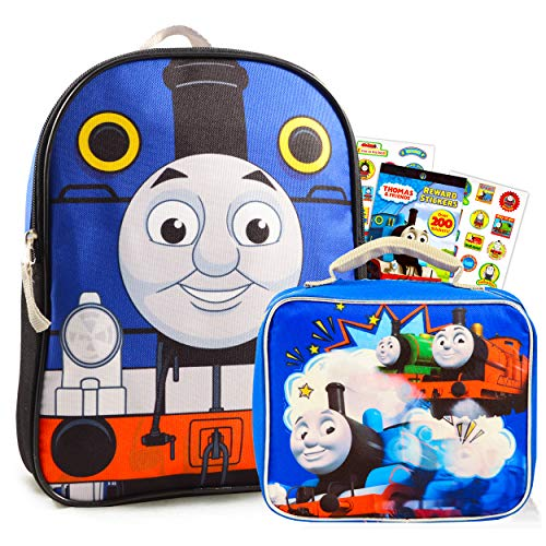 """Thomas and Friends Mini Backpack and Lunch Box Set ~ Premium 11"""" Thomas Backpack and Insulated Lunch Bag with Stickers (Thomas the Train School Supplies Bundle)"""