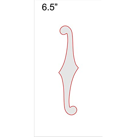 """F-Hole Routing Template - 6.5"""" Sharp"""