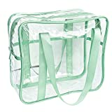 FIYUK Clear Tote Bag Transparent Cosmetic Makeup Toiletry Bag Lightweight Waterproof Organizer Large Storage...