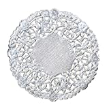 Hygloss Products 4 Inch Silver Foil Doilies - Round Doilies Made in the USA, 12 Pack