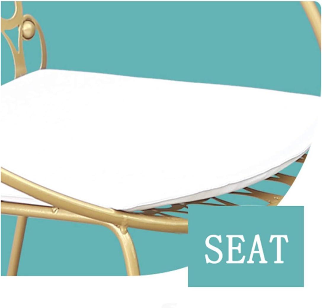 ANZML Chaise De Salle à Manger, Chaise De Jardin en Fer Forgé Chaise De Salon Dorée Chaise Creuse en Fer Forgé Chaise De Cuisine élégante pour Les Loisirs 1 11