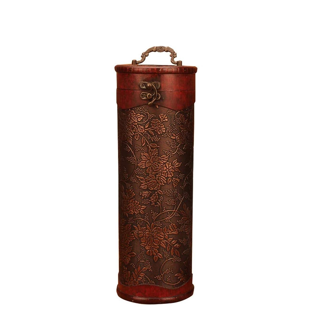 サービスコミットパイプラインワインギフトボックス 飾るお土産のためのヴィンテージワインボトルボックスギフトバッグ 記念日やディナーパーティーに使用 (色 : As Shown, Size : 11.5x33.5cm)