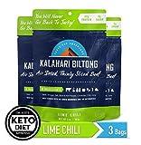 Lime Chili Kalahari Biltong, Air-Dried Thinly Sliced Beef, 2oz (Pack of 3), Sugar Free, Gluten Free,...