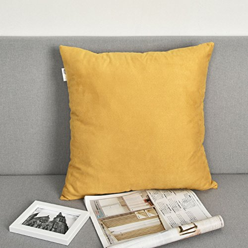 Natus Weaver 1 pc Decor Velvet Throw Pillow Sham Cushion Cover Pillowcase for Bench Couch 26 x 26 inches 66 cm Gold