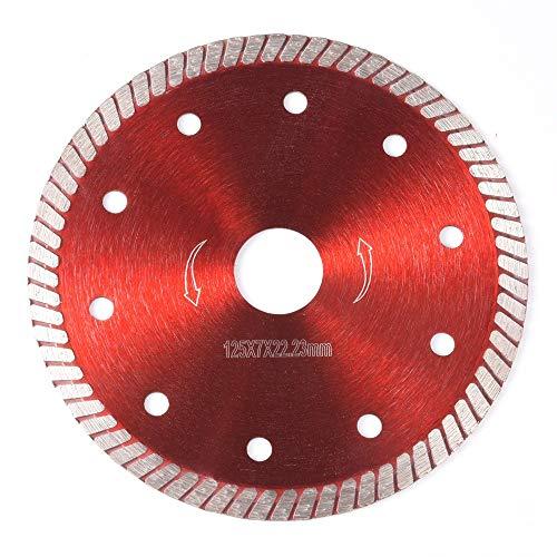YUQIYU 105/115/125 mm amoladora presionando delgadas hojas de sierra de diamante del granito disco de turbina de corte de baldosas D30 disco de diamante (Outer Diameters : 125mm)