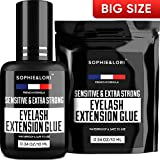 Eyelash Glue for Lash Extensions - Extremely Strong Lash Glue for Professional...
