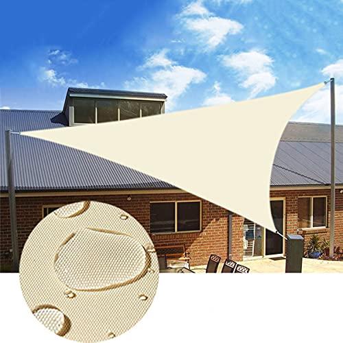 Ximger Pantalla de privacidad para patio trasero, terraza, balcón, porche, protección UV, color arena (5 x 5 x 7 m, triángulo)