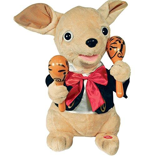 Cuddle Barn Chuey Bamba 12' Singing Chihuahua Animated Plush Toy, Shakes Maracas to 'La Bamba'
