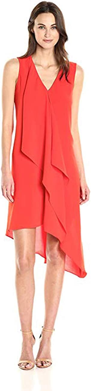 Adrianna Papell Max 64% OFF Women's Cold Asym Super special price Drape Shoulder Dress