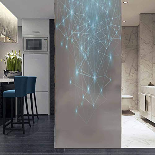 ViLJe No Glue Anti-UV Privacy Window Film Frosted Static Cling Glass Sticker Film, Best Internet Concept of gl, Bathroom Privacy Window Film Glass Sticker 17.7 x 78.7 Inch