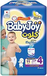 BabyJoy Culotte, Size 4, Large, 10-18 kg, Saving Pack, 11 Diaper Pants