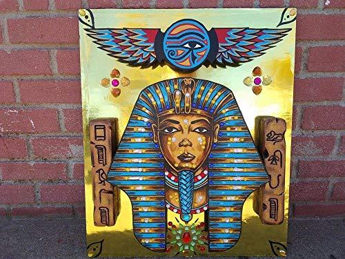 Heiwu Rompecabezas 1000 Piezas Piezas Jigsaw Puzzle Rey Nefertiti, el faraón Egipcio Tutanjin Adultos Juego Creativo decoración Rompecabezas educativos