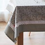 JJHR Tischwäsche Gartenhaus Gitter Tischdecke Stoff Rechteckigen Blatt Tischdecke Kaffeetisch Tuch Abdeckung Handtuch