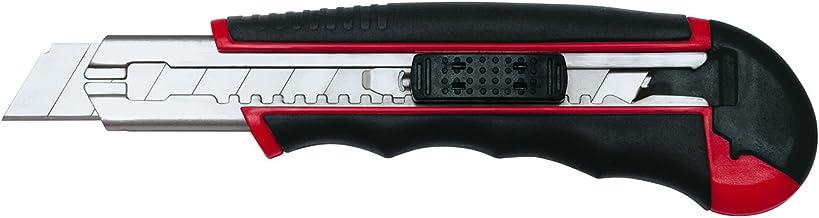 Wedo 78418 Cutter Autoload 18mm, inklusiv 6 Klingen im Magazin rot/schwarz