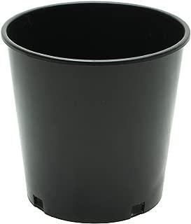 Grow Pro Cali Pots Premium Black Plastic Nursery Plant Container Garden Planter Pots, 2 gal, 5 Piece