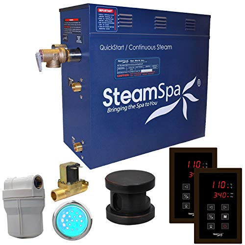 Sale!! Royal 4.5 kW QuickStart Steam Bath Generator Package with Built-in Auto Drain Finish: Oil Rub...