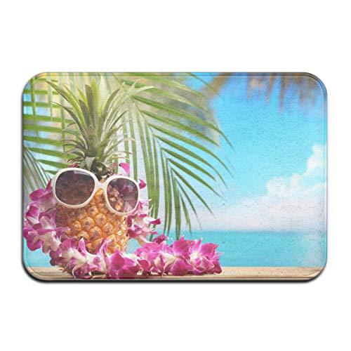 N\A Fußbodenmatte, Fußmatten im Freien, Sonnenbrillen Ananas rutschfeste Fußmatten, Absorptions-Fußmatte im Innenbereich, Fußmatten für das Badezimmer zu Hause