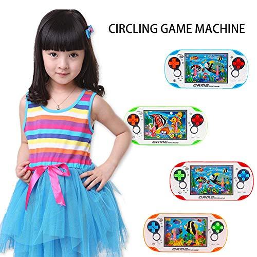 Letway Máquina de Juego,1 PC Máquina de Anillo de Agua Máquina de Juego de Juguete Retro para niños nostálgicos de la Infancia Máquina de Juego Circular, desarrolla la coordinación Mano-Ojo Good