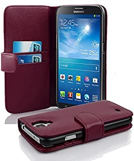 Cadorabo Case Works with Samsung Galaxy MEGA 6.3 in Pastel Purple (Design Book Structure) – with 2 Card Slots – Wallet Case Etui Cover Pouch PU Leather Flip