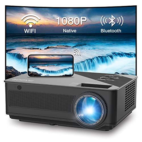 FANGOR WiFi Projektor Full HD Projektor 1080P Native 7500 Lumen Bluetooth Projektor für Heimkino, kompatibel mit TV Stick, HDMI, VGA, USB, Smartphone