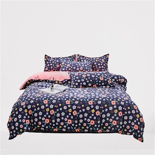 CCBAO Textiles para El Hogar, Ropa De Cama Funda Nórdica De Doble Cara Estilo Moderno Duradero Y Fácil De Limpiar De 4 Piezas 180x220cm