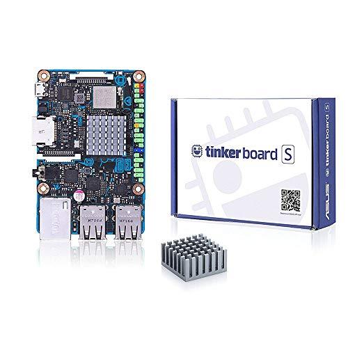 Tinker Board S Single Board Computer RK3288 SoC 1.8GHz Quad Core CPU, 600MHz Mali-T764 GPU, 2GB LPDDR3 & 16GB eMMC Motherboard