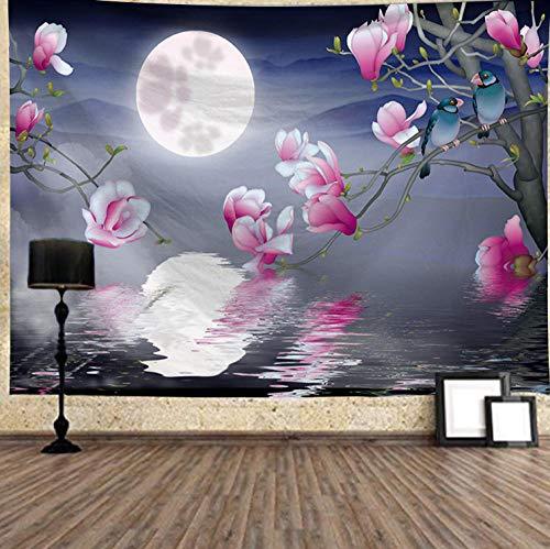 Wssmsy Tapiz para Pared,Paisaje Lunar esteras de Yoga, divisores de Habitaciones,Decoraciones -L/148cmx200cm