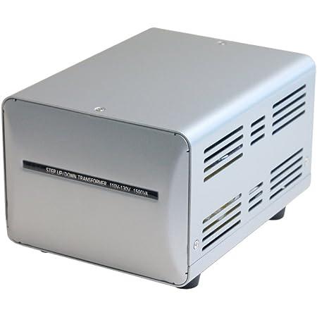 カシムラ 海外国内用 変圧器 AC 110V ~ 130V / 1500W 本体電源プラグ Aプラグ , 出力コンセント Aタイプ Voltage Transformer NTI-149