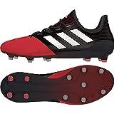 adidas Ace 17.1 Leather Fg, Botas de Fútbol para Hombre, Negro (Core Black/Footwear White/Red), 46 EU