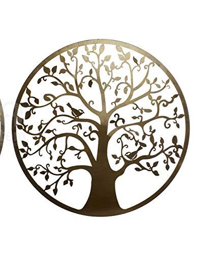 Decoración Pared árbol Vida Metal 40x40 cm Dorado