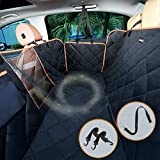 iBuddy Dog Seat Cover with Mesh Window Waterproof Car Seat Cover for Dogs Durable Vehicle Pet Seat Cover Protector for Back Seat Against Dirt and Dog Hair of Car/SUV Machine Washable Dog Car Hammock