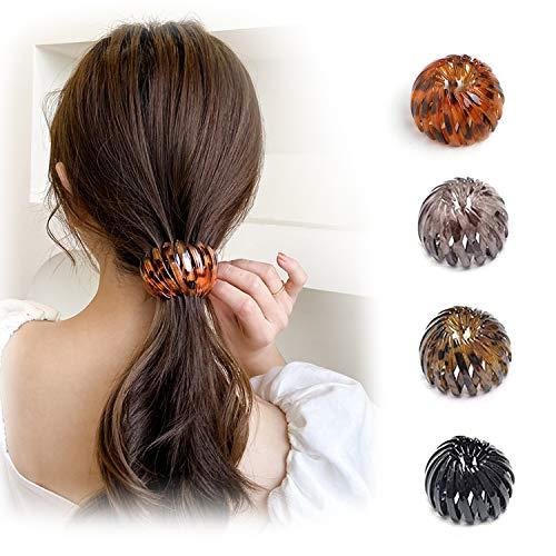 HENGBIRD 4 Stück Kunststoff Haar Klaue Clips Damen Haare Klaue Klammern für Damen Ohne Rutschen Hochwertig Haare Hochstecken Krallen Clips Hohle