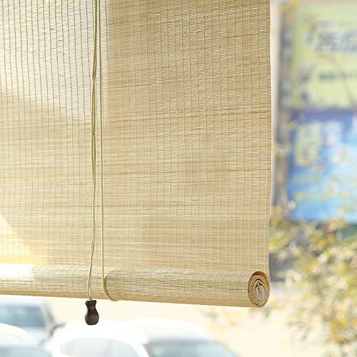 Estores enrollables Persianas Enrollables For Exteriores, Persianas Venecianas De Bambú Externo para Terraza con Porche Gazebo Pergola, Fácil De Colocar, 80/100/120/140 Cm De Ancho