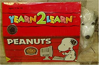 Yearn 2 Learn Peanuts Snoopy 5 Educational & Entertaining Games + Snoopy Toy