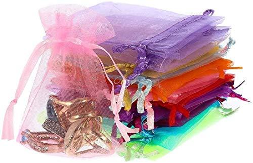 Voarge 100 bolsas de organza, bolsas de tela para regalos, 10 x 15 cm, multicolor, para regalo de boda, joyas, caramelos, recuerdos, etc.